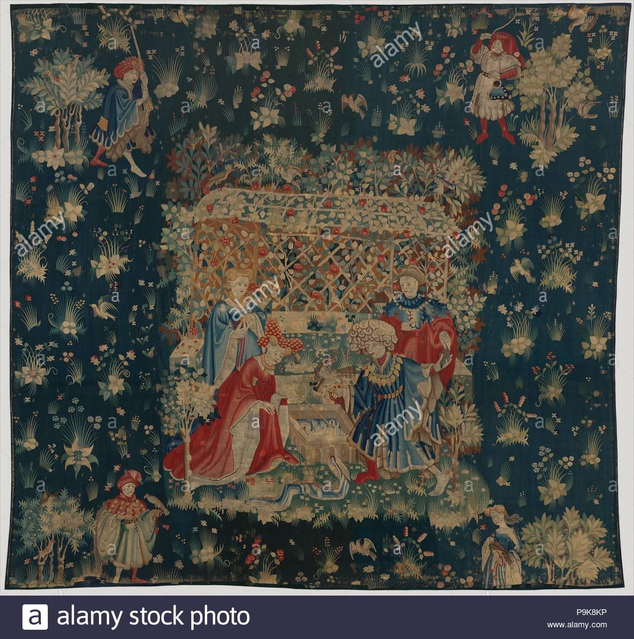 Los Halcones De La Banera Ca 1400 1415 South Netherlandish - Tapices-de-lana