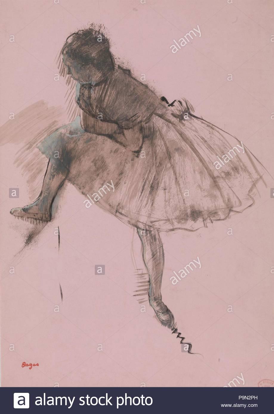 Estudio De Una Bailarina De Ballet Recto Dos Estudios De