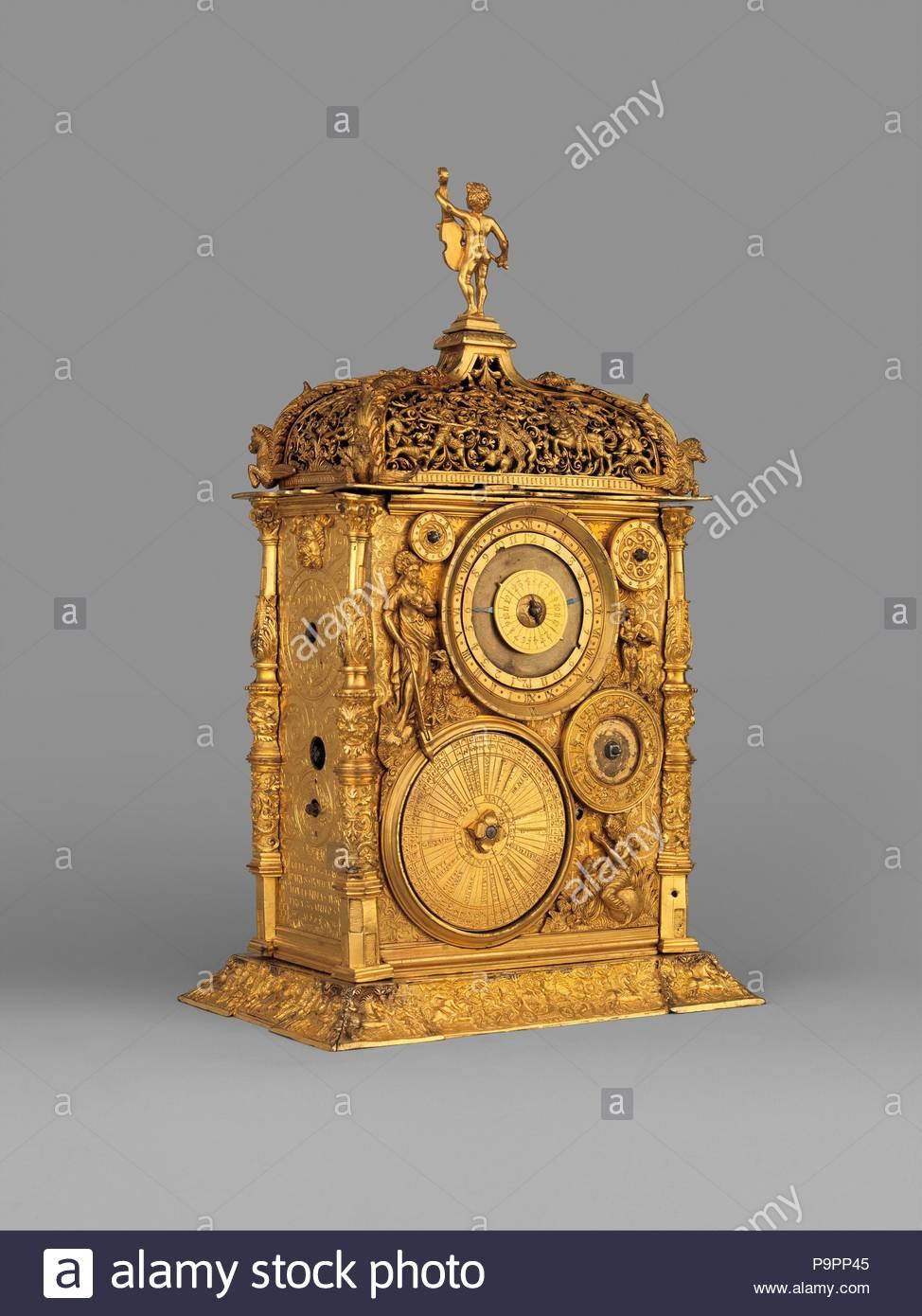 Cuadro reloj astronómico, Movimiento probablemente por Jeremias ...