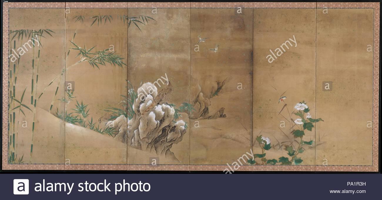 Flores Y Aves De Las Cuatro Estaciones Del Periodo Edo 1615 1868