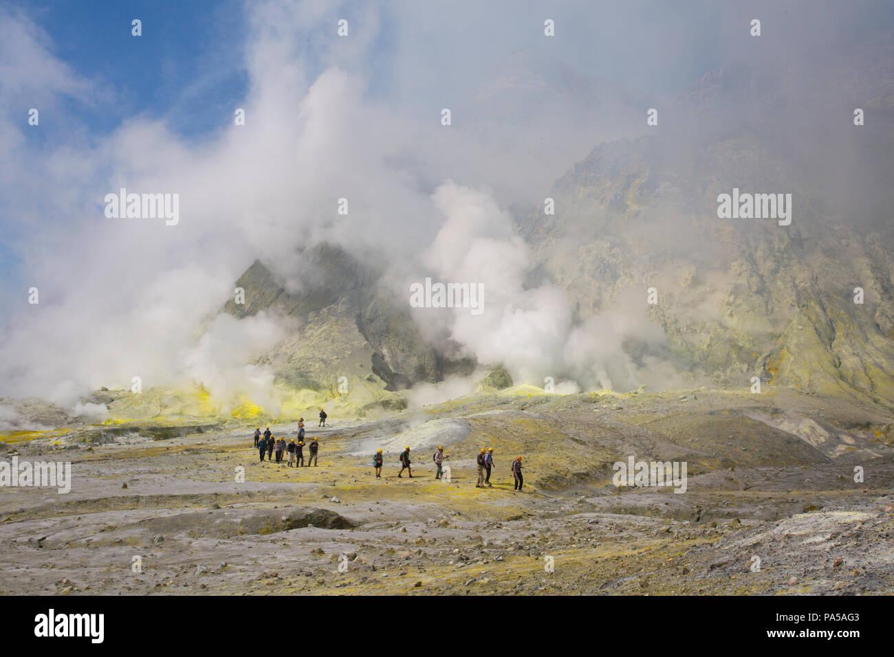 El volcán activo White Island, Nueva Zelanda Imagen De Stock
