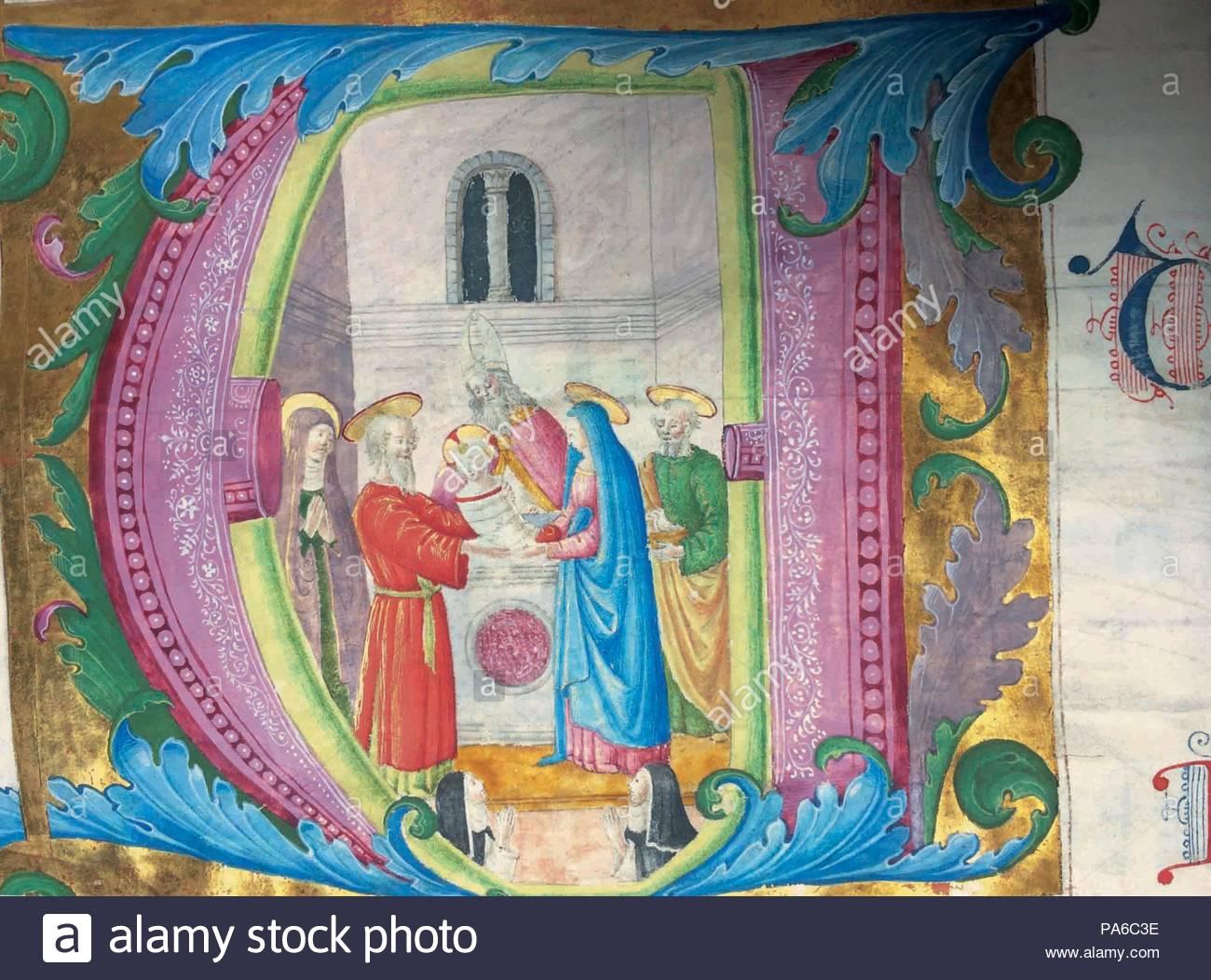 A. inicial la presentación de Jesús en el templo. Museo: San Marco ...