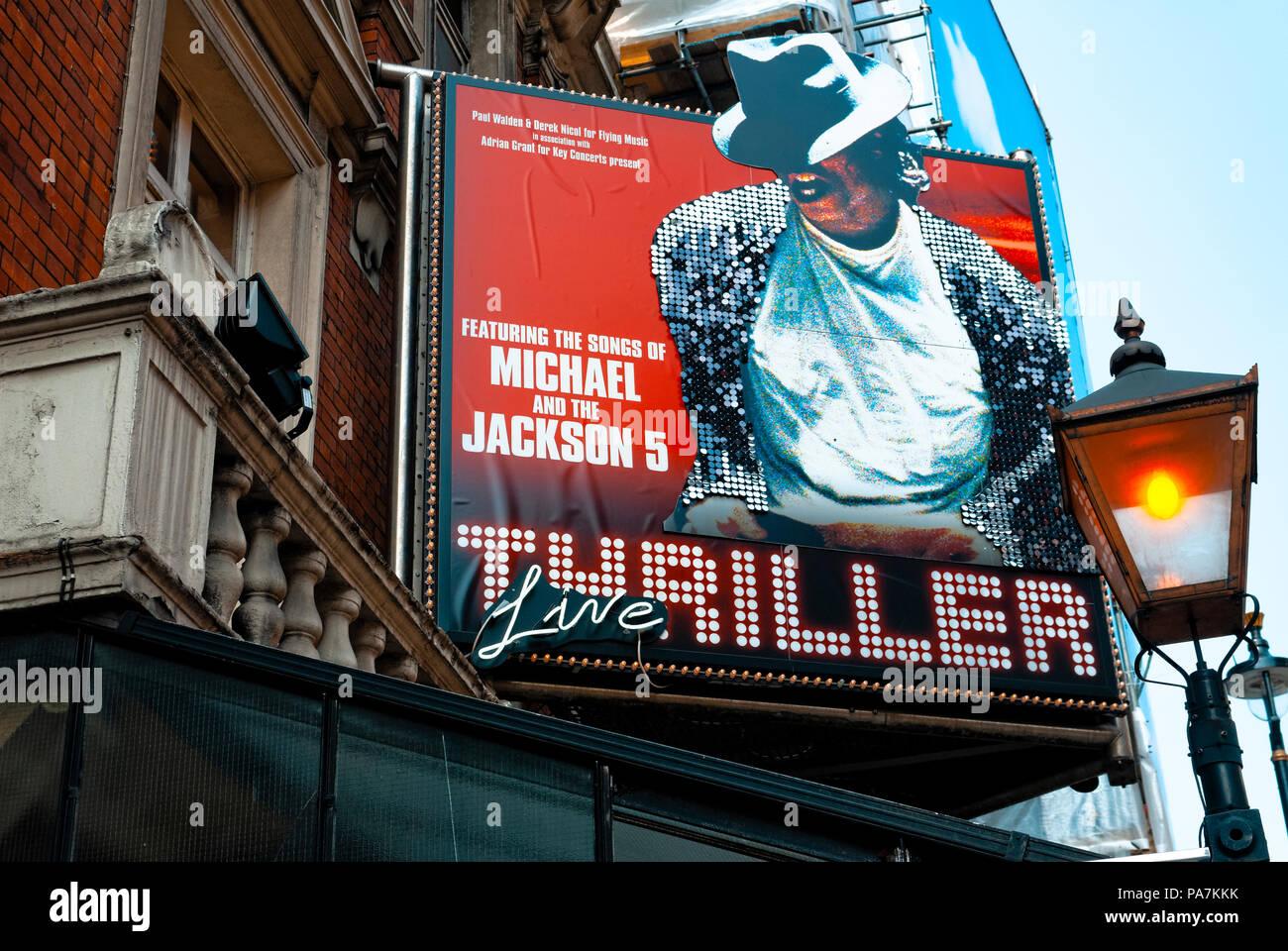 El Lyric Theatre de Shaftesbury Avenue donde 'Thriller Live' concierto se realiza en London's West end. Imagen De Stock