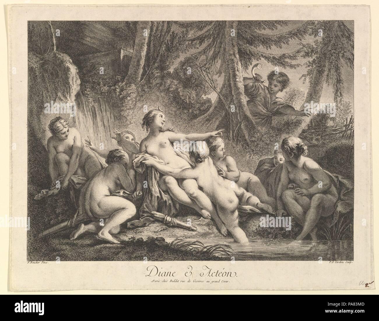 Boucher El Bano De Diana.Diana Y Acteon Artista Despues De Francois Boucher