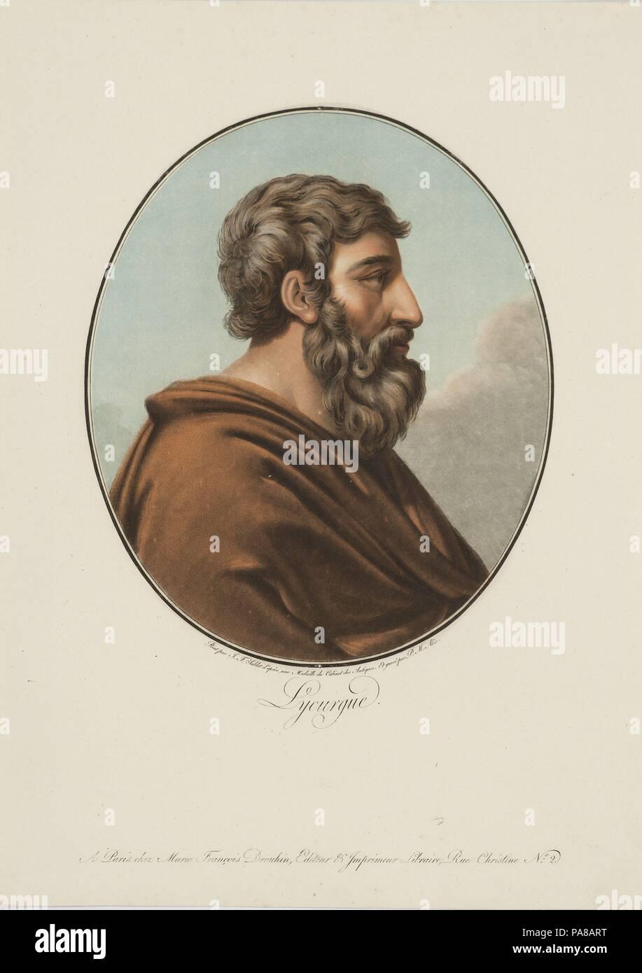 Retrato de Lycurgus de Esparta. Museo: Musée d'art et d'histoire, Genf. Foto de stock