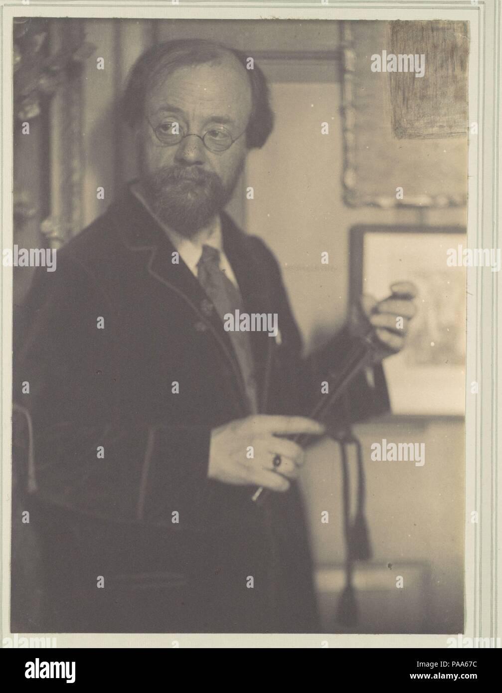 F. H. Evans. Artista: Gertrude Käsebier (Americano, 1852-1934). Dimensiones: Imagen: 8. × 5 7/8 in. (20,3 × 15 cm) Hoja: 13/16 14 × 10 5/16 in. (37,7 × 26,2 cm). Maker: montado por Frederick H. Evans (Británico, Londres Londres, 1853-1943). Fecha: ca. 1901. Museo: Museo Metropolitano de Arte, Nueva York, Estados Unidos. Foto de stock