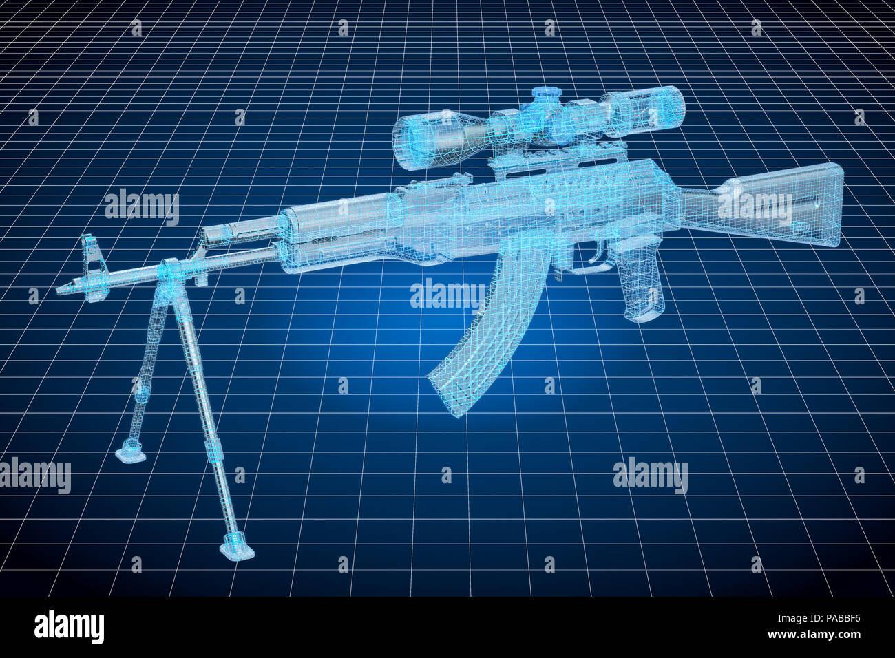 861eb2cdb8b6 Visualización de modelos CAD en 3D de arma