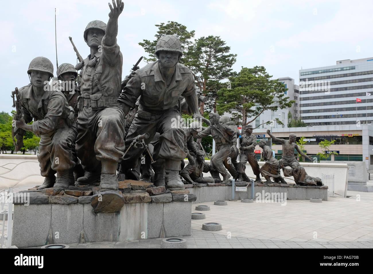 War Memorial y el Museo, Seúl, Corea del Sur de Asia. Foto de stock