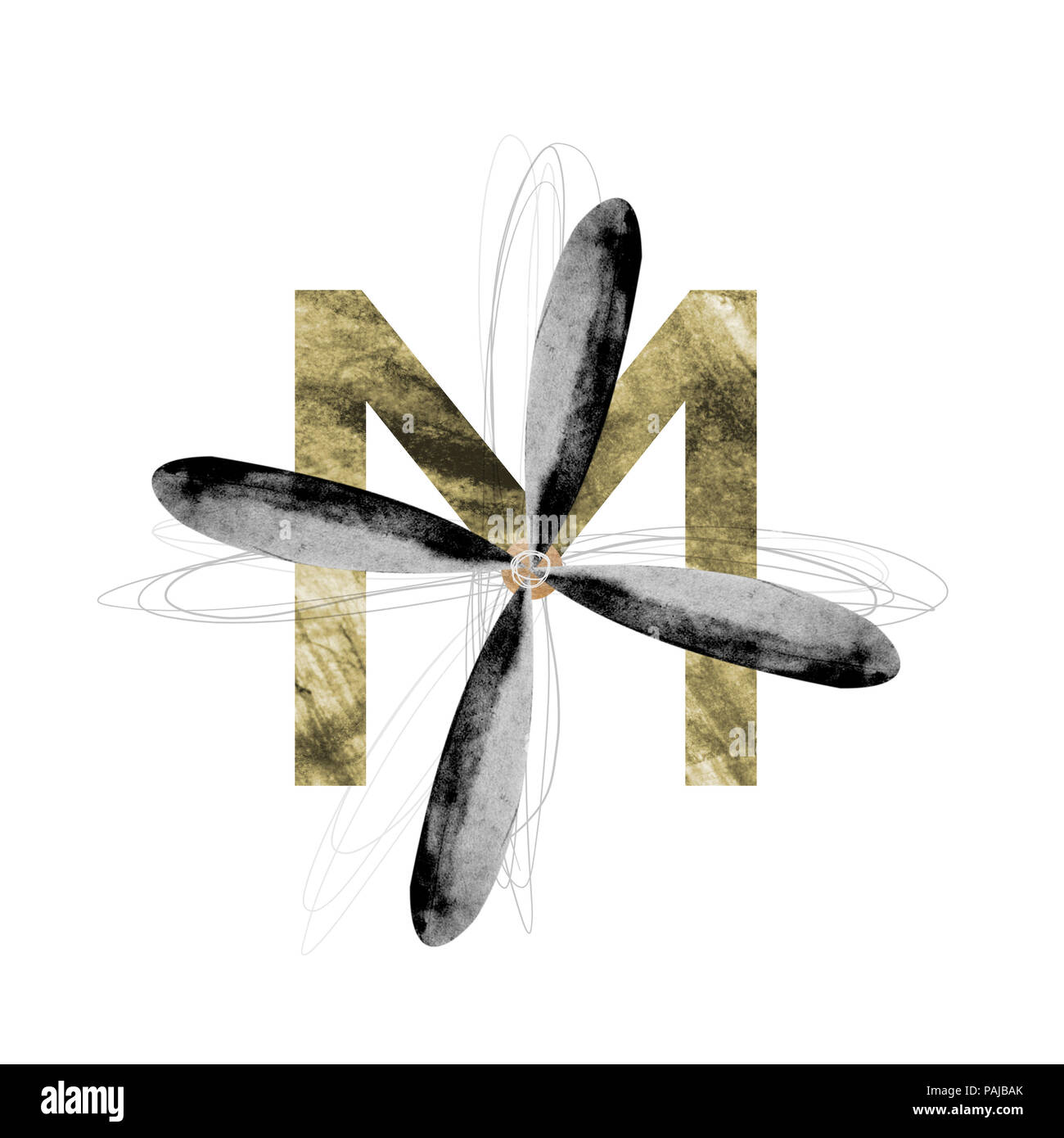 M es para el motor, la letra del alfabeto para niños Imagen De Stock