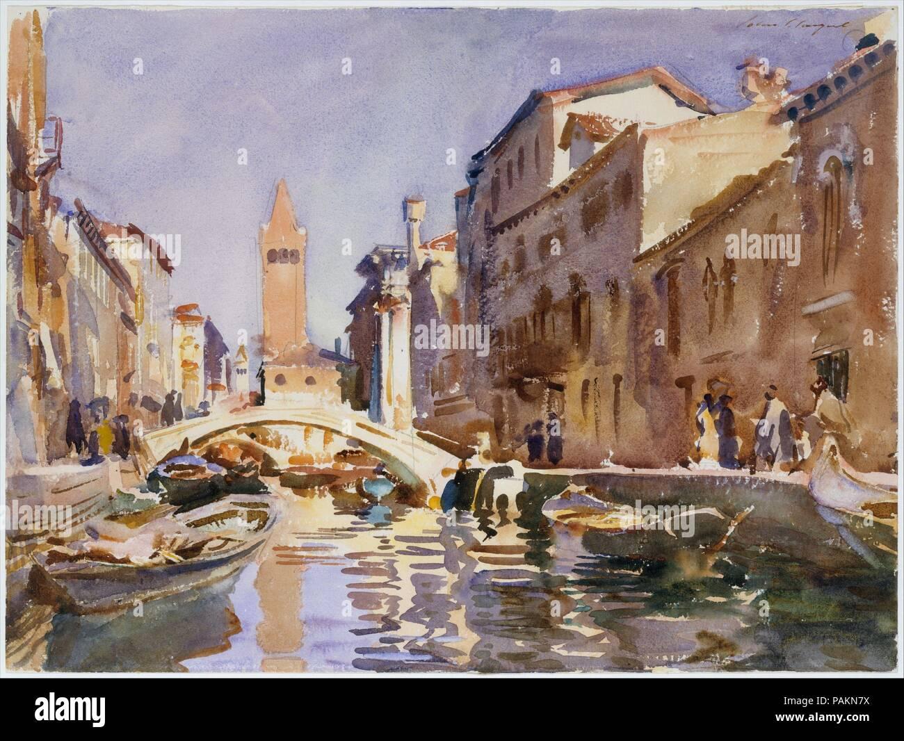 Canal veneciano. Artista: John Singer Sargent (American, Florencia ...