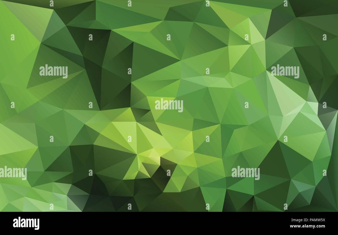 Resumen Antecedentes Poligonales En Tonos Verde Ilustracion Del - Tonos-verde