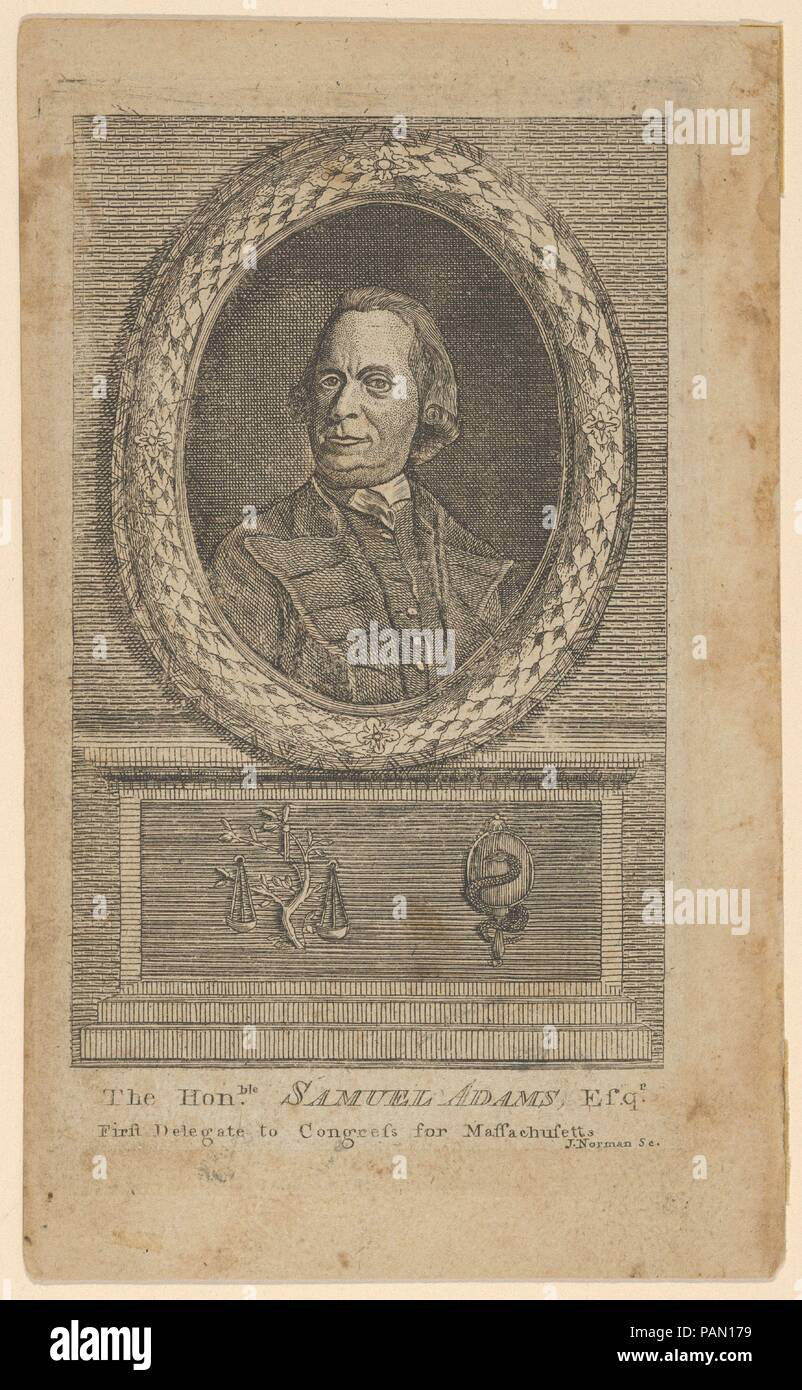 El Honorable Samuel Adams, Esq., primer Delegado al Congreso de ...
