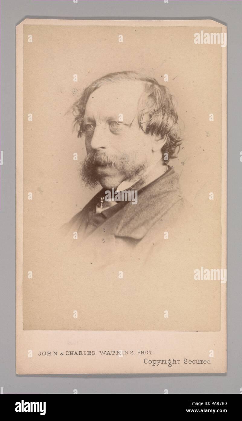 """[Frederick William Fairholt]. Dimensiones: aprox. 10,2 x 6,3 cm (4"""" x 2 1/2""""). Estudio de fotografía: John y Charles Watkins (British, activo 1867-71). Fecha: 1860. Museo: Museo Metropolitano de Arte, Nueva York, Estados Unidos. Imagen De Stock"""