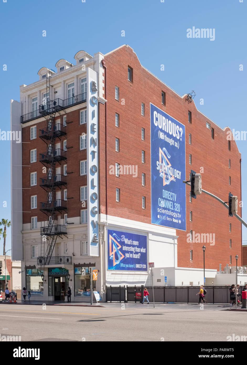 Centro de pruebas de Cienciología en Hollywood, Los Ángeles, Los Ángeles, California, EE.UU. Imagen De Stock