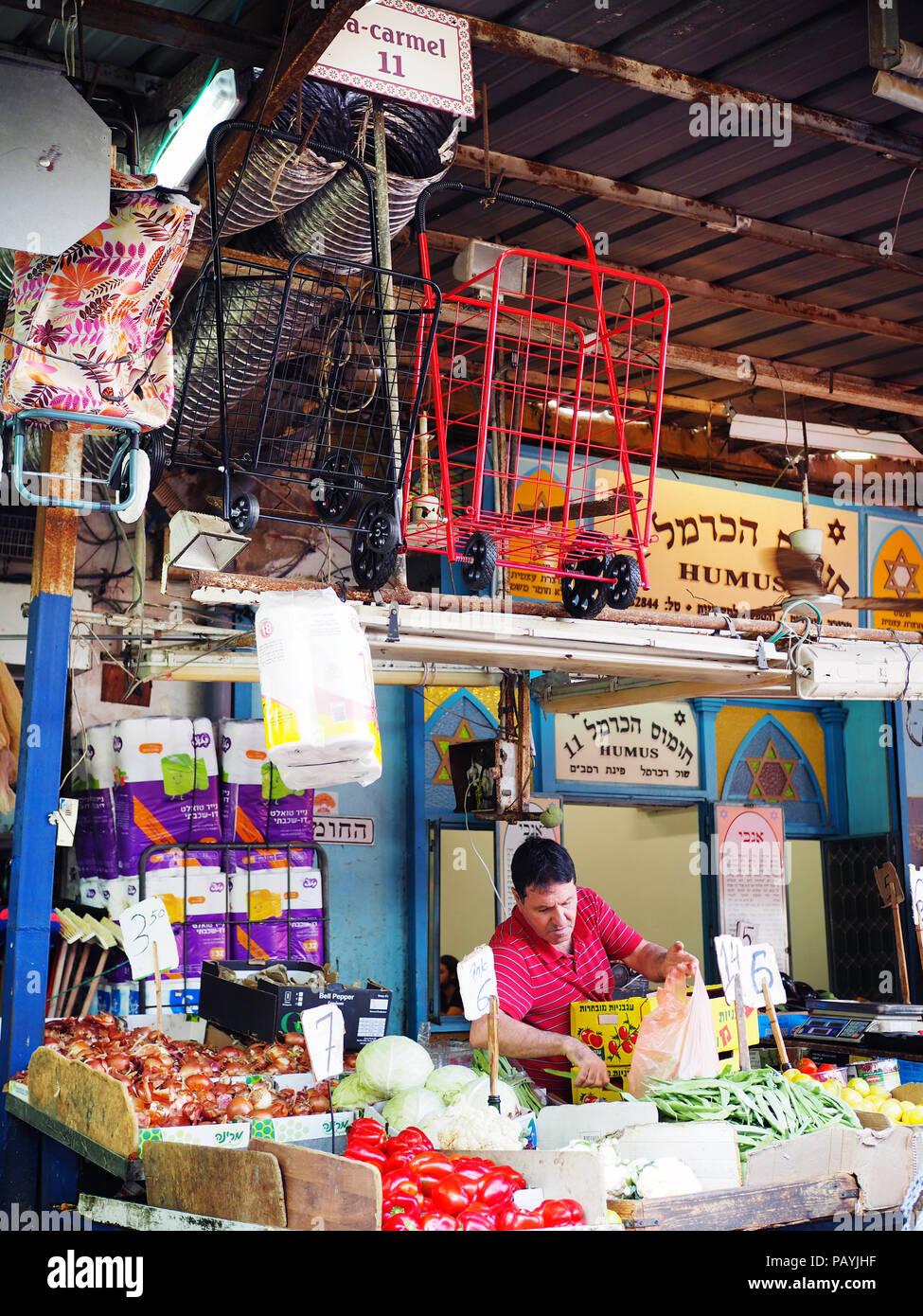 Mercado Carmel, Tel Aviv, Israel Imagen De Stock