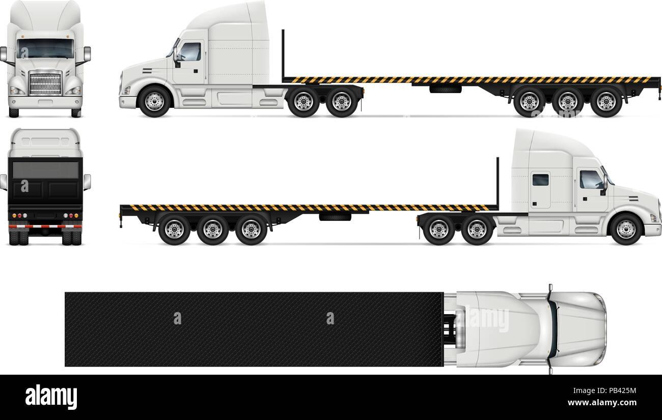 Camión Vector Boceto En Blanco Para Vehículo De Marca
