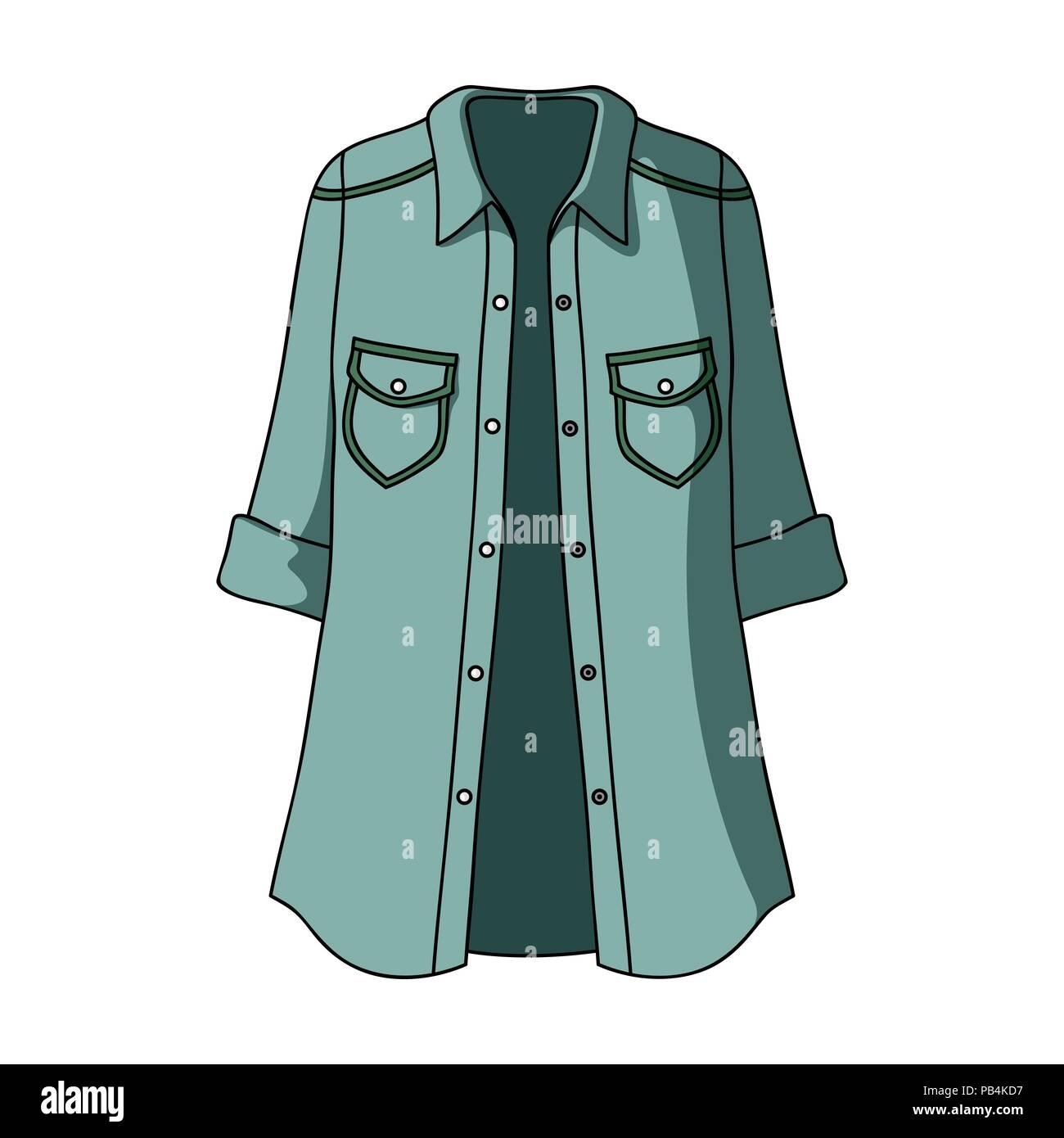 8631f4c96 La mujer chaqueta verde con botones y mangas cortas. Ropa casual para la  mujer elegante.Las mujeres vestido único icono en el estilo de dibujos  animados ...