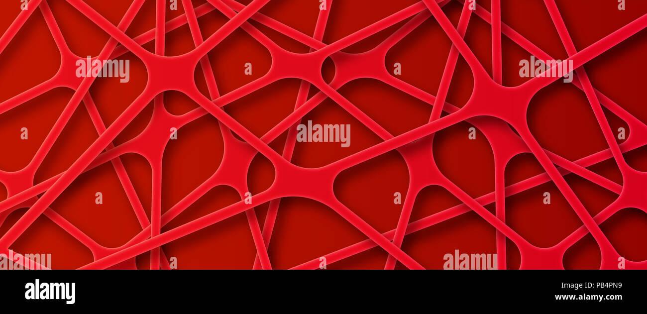 Abstracto buscando sintético Rojo fondo de red Imagen De Stock