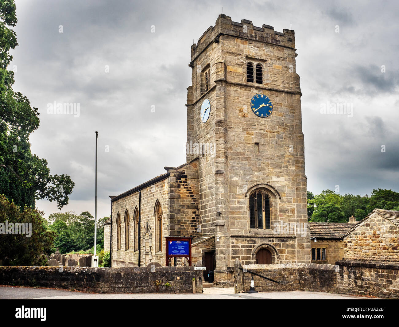 San Roberto de iglesia parroquial en Pannal Knaresborough Harrogate North Yorkshire Inglaterra Foto de stock