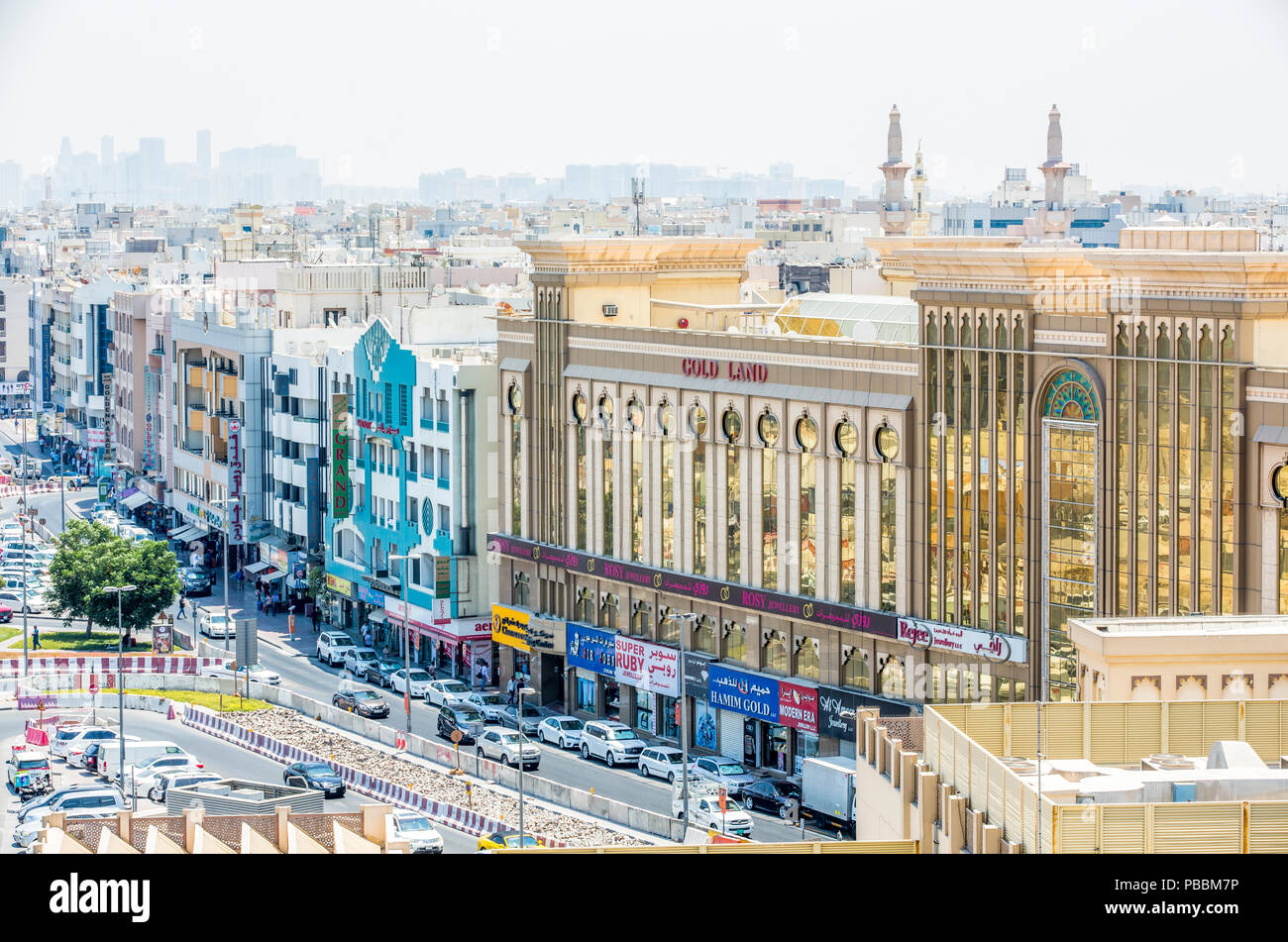 Vistas de Dubai Gold Souk Foto de stock