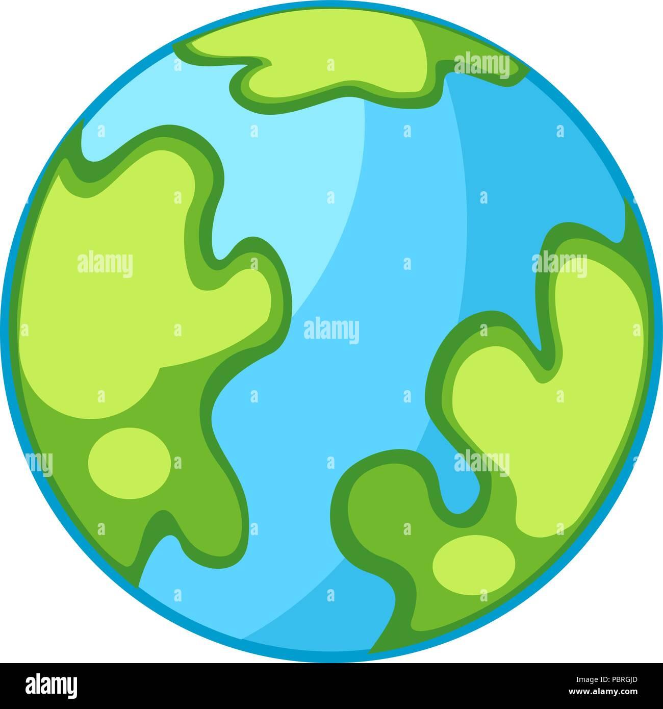 Vector De Dibujos Animados El Planeta Tierra Ilustración Del Vector