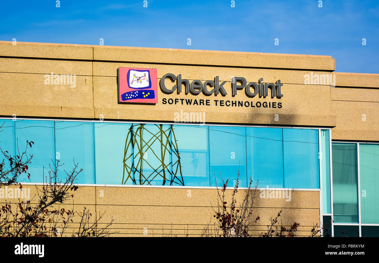 Check Point Software Technologies - ofrece productos de software y hardware para la informática, redes y seguridad. Imagen De Stock