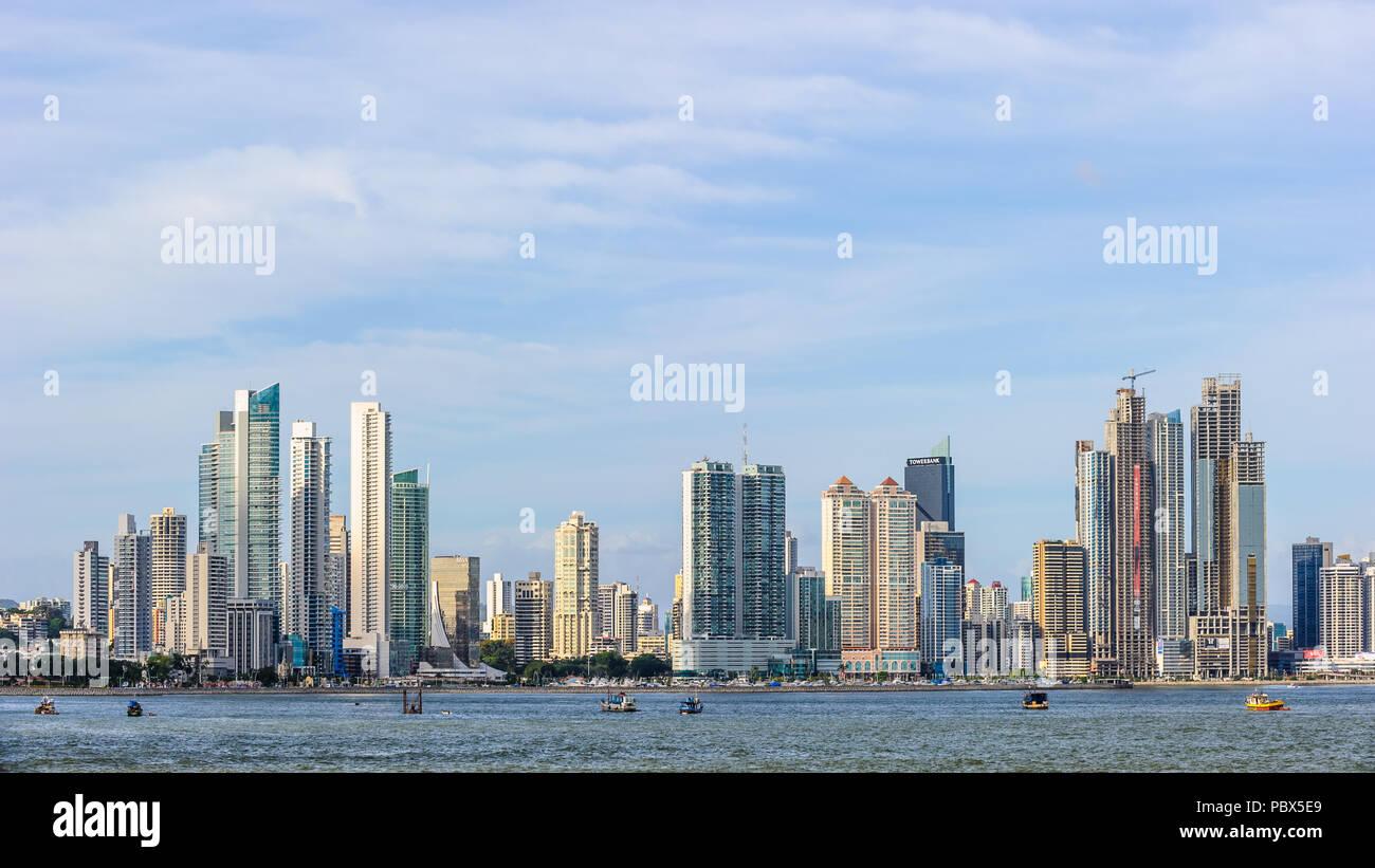 Ciudad de Panamá (Ciudad de Panamá), la capital y ciudad más grande de la República de Panamá. Foto de stock