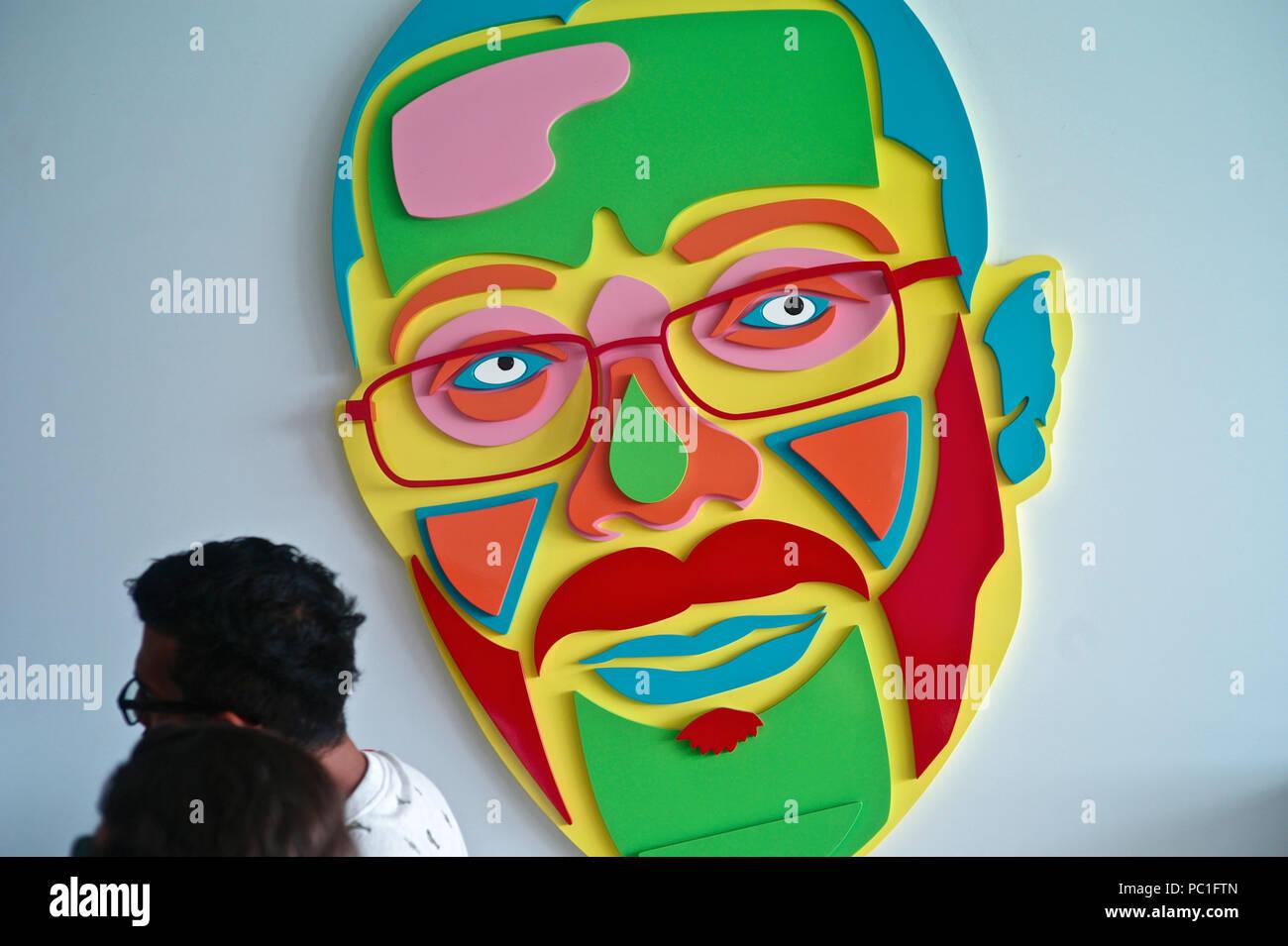 Jairo Varela Museo. El artista creó la icónica canción de salsa Cali Pachanguero y creó el grupo de música de renombre mundial Grupo Niche Foto de stock