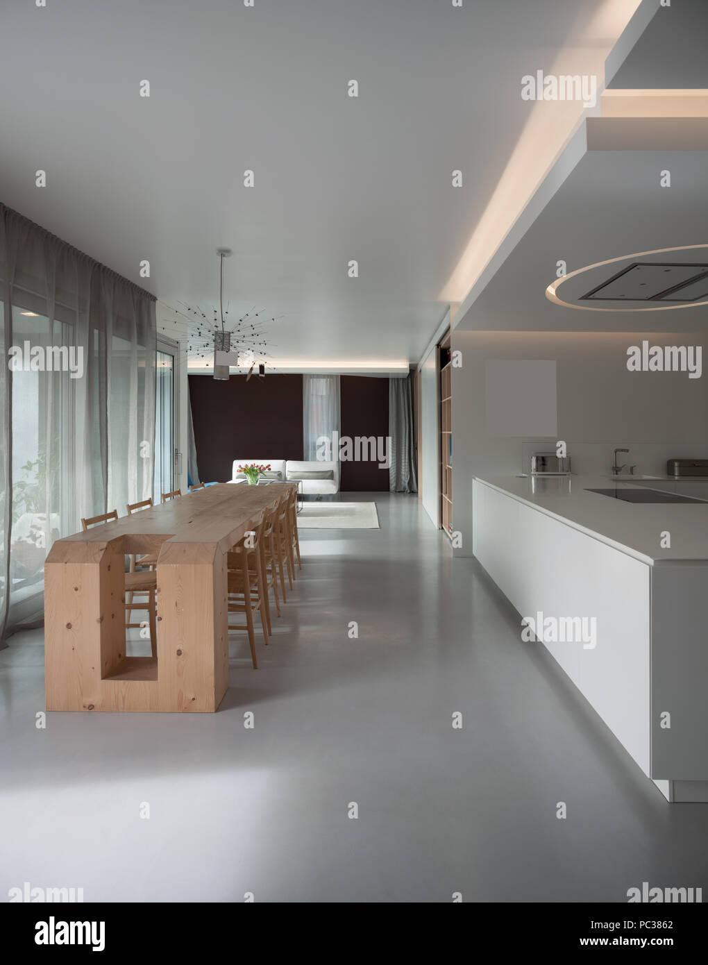 Apartamento de lujo de madera mesa de comedor y cocina for Mesas de cocina de madera modernas