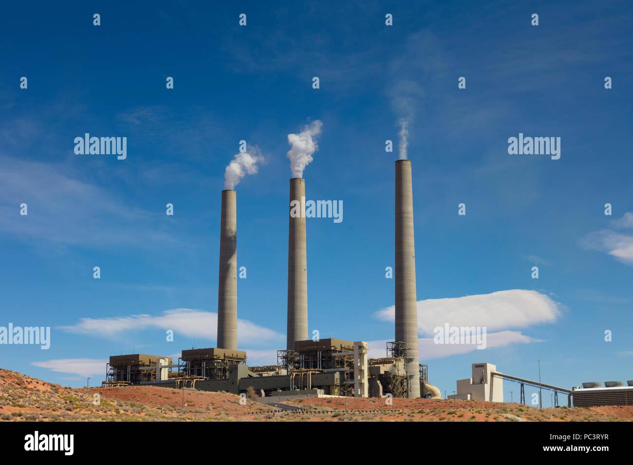 Estación generadora Navajo, Page, Arizona Imagen De Stock