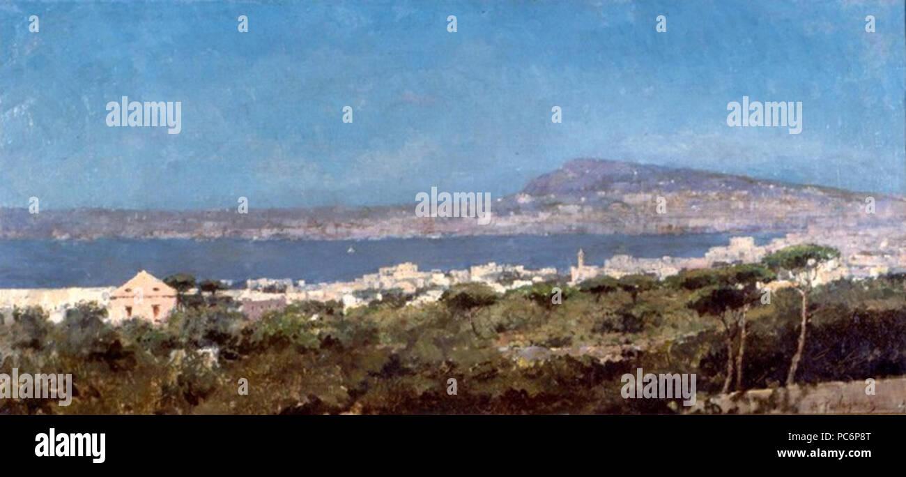 13 Benjamin Parlagreco - Vista de Nápoles Foto de stock