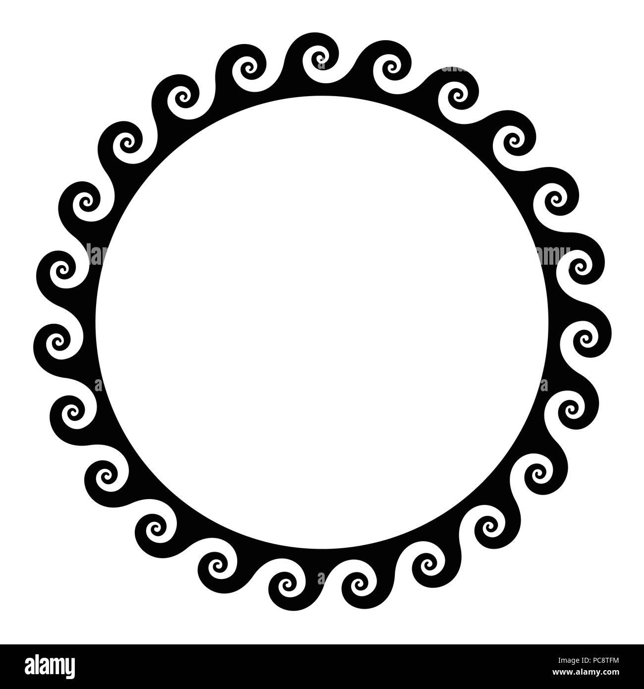 Bastidor negro espirales sin costuras hechas de un perro del patrón ...
