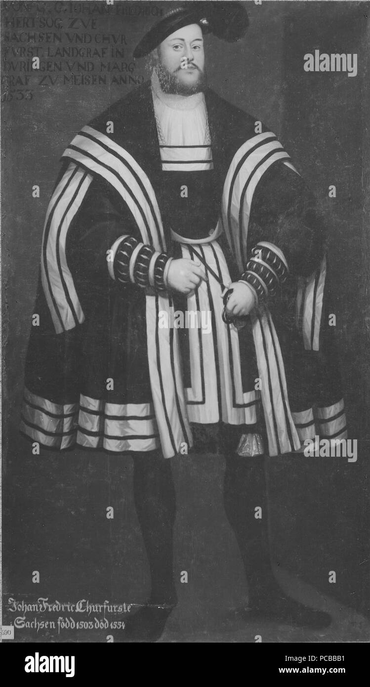 49 Johan Fredrik I, 1503-1554, av kurfurste Sachsen (David) - Nationalmuseum Frumerie - 15260 Foto de stock