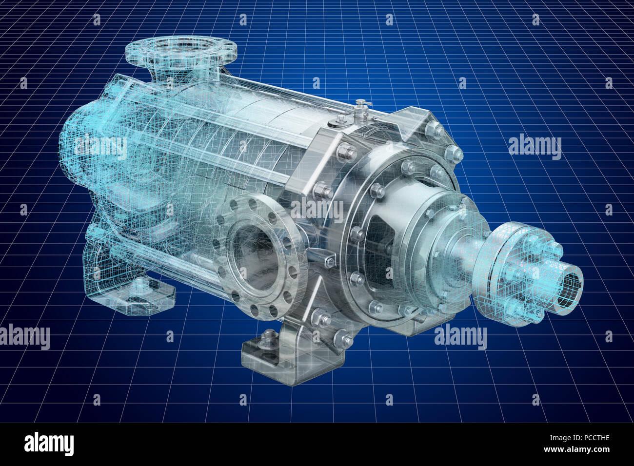 a6e89188a77c Visualización de modelos CAD en 3D de bomba centrífuga