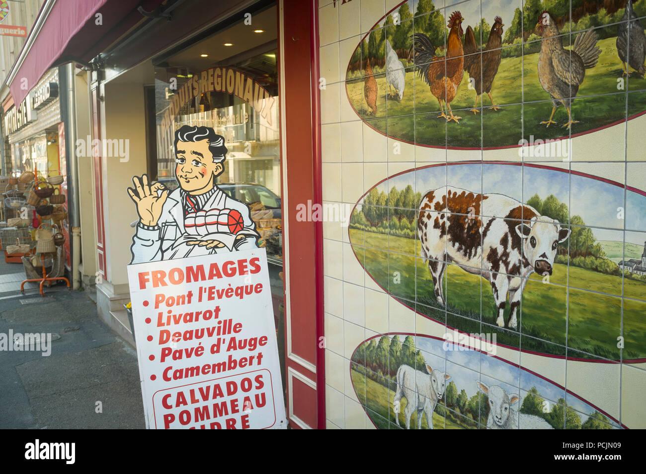 Carniceria Tradicional En Pont L Eveque Normandia Francia Con