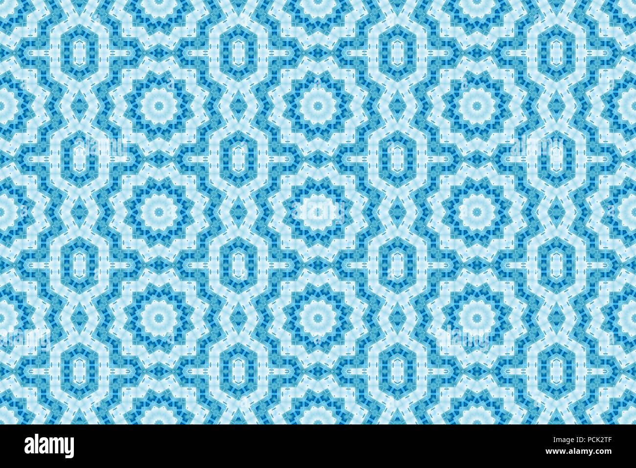 Fondo de la trama perfecta, repitiendo el calidoscopio abstracto simétrico forma el telón de fondo de diseño gráfico Foto de stock