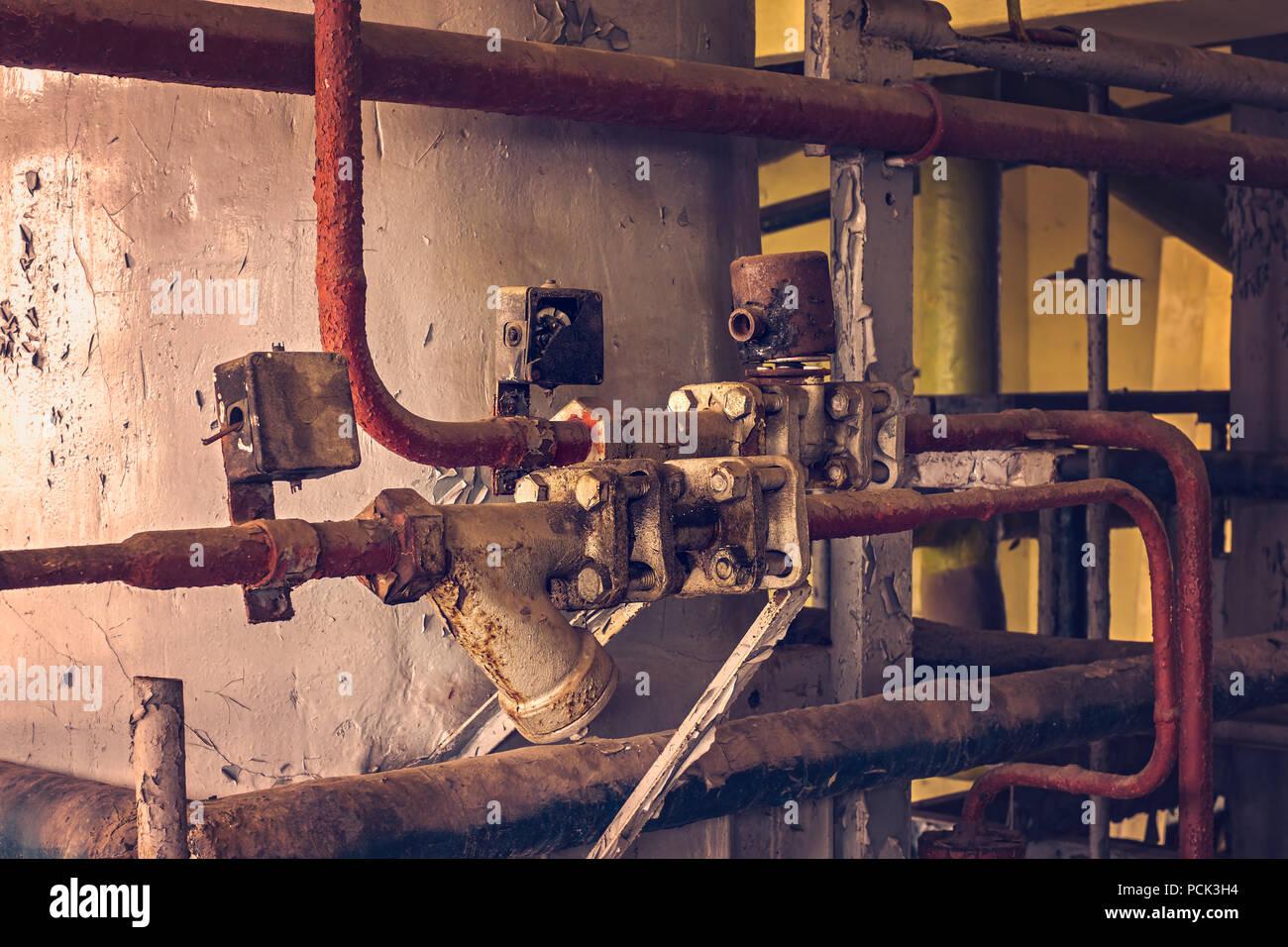 Fábrica abandonada interior Imagen De Stock