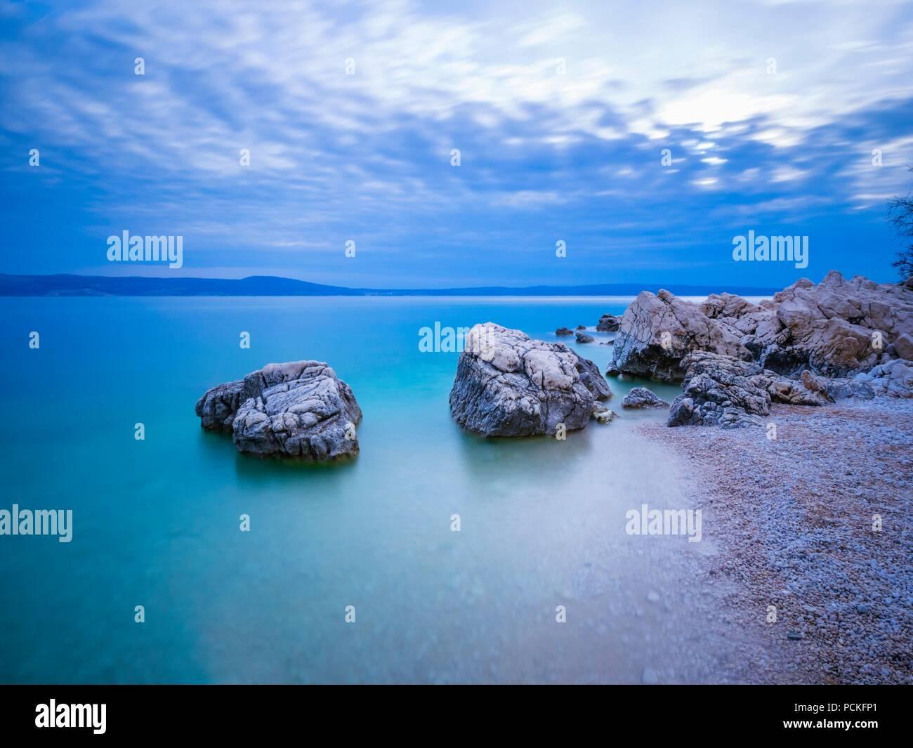 Vistas fantásticas a la serenidad del mar Foto de stock