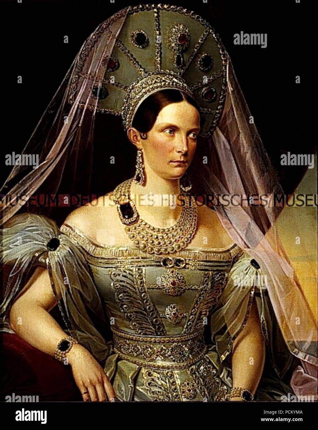 053287c51 Alexandra Feodorovna en ruso vestido Foto & Imagen De Stock ...