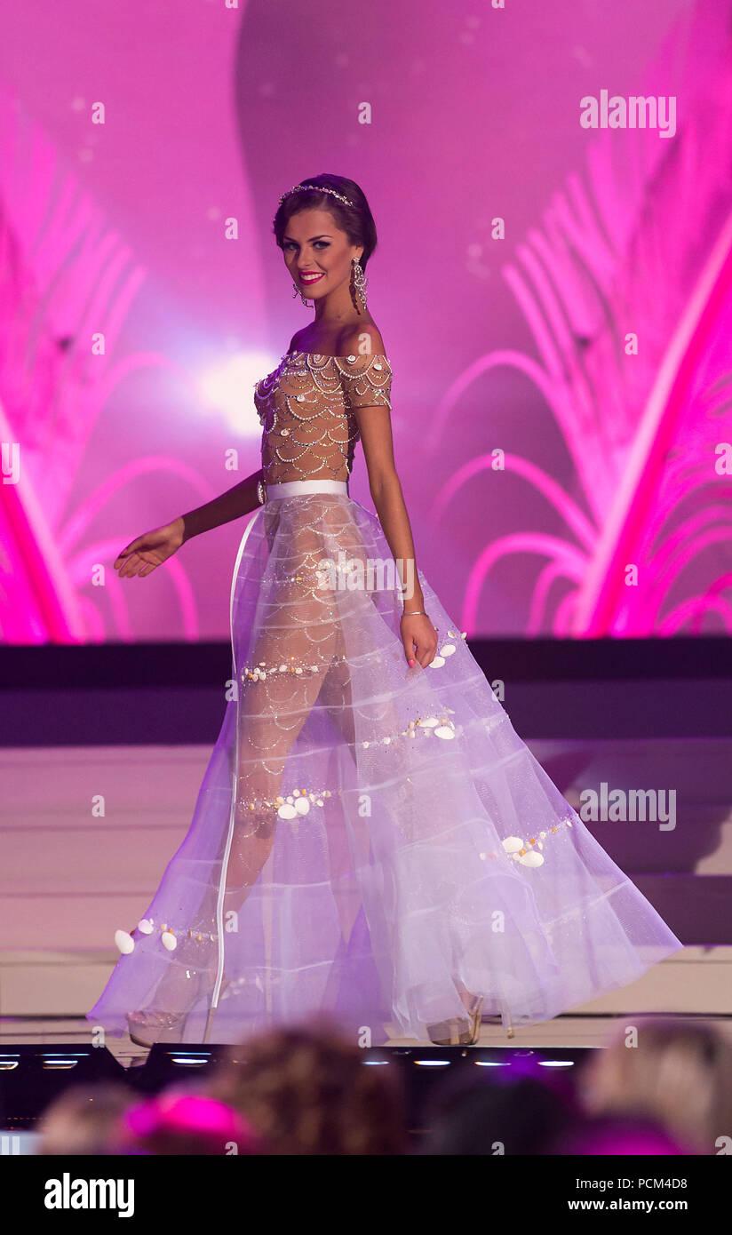 DORAL, FL - Enero 21: Miss Lituania Patricija Belousova 2014, la 63 edición anual de Miss Universo el 21 de enero de 2015 en Miami, Florida. Personas: Miss Lituania Belousova Patricija Foto de stock