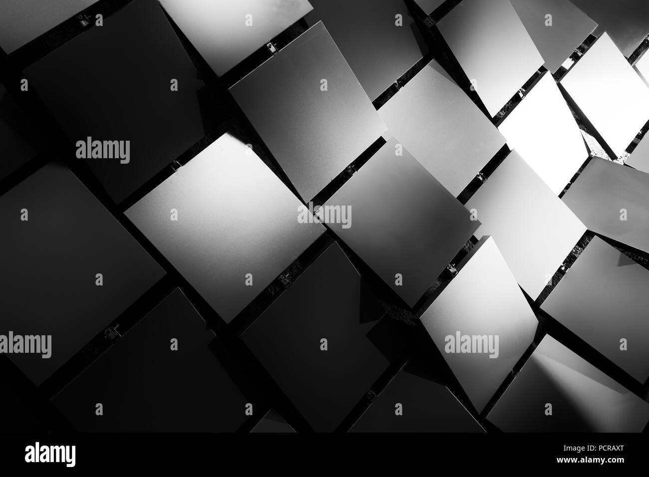 Paneles de pared de metal decorativo, patrón geométrico Imagen De Stock