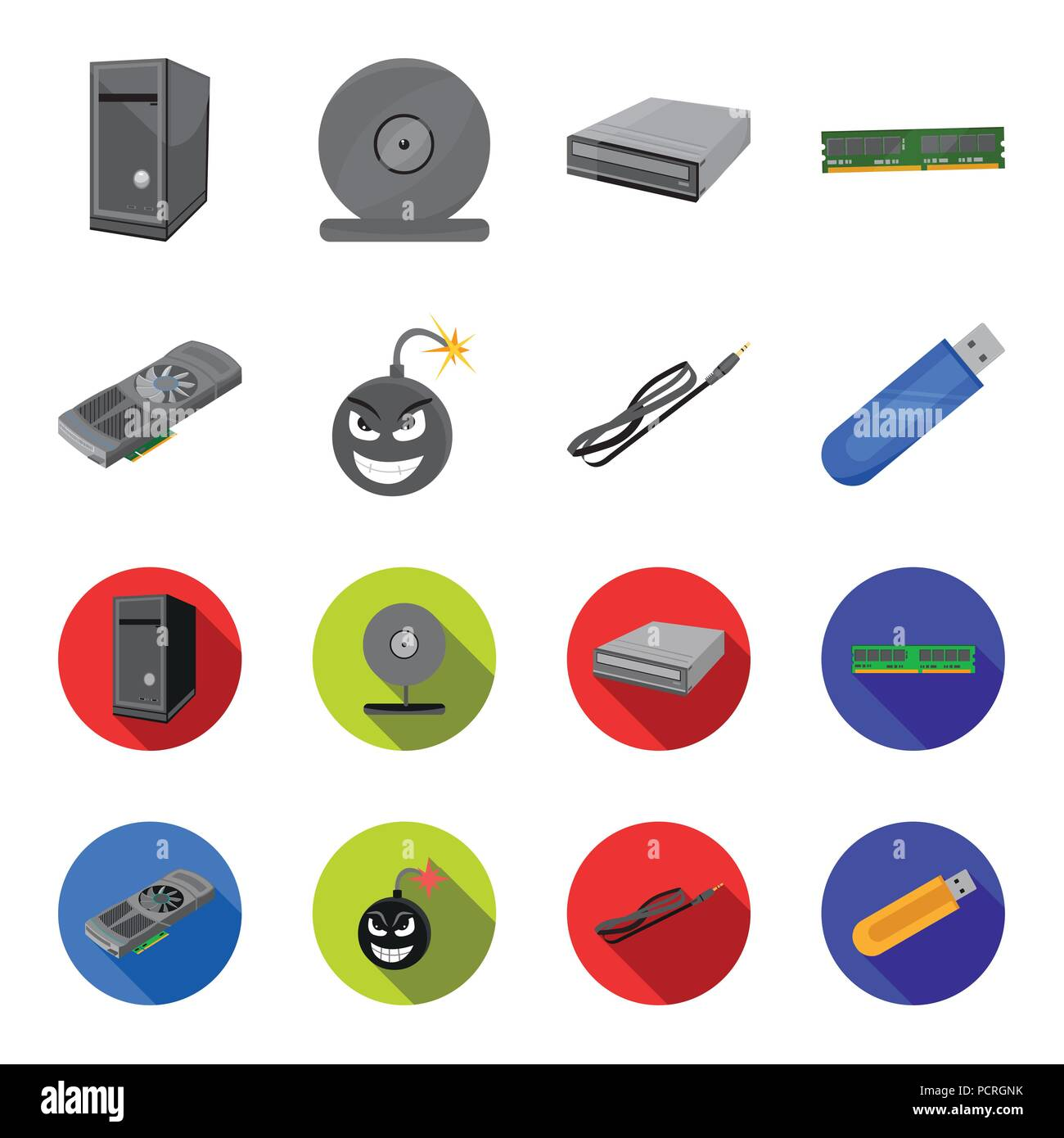 Virus Vector Set Cartoon Style Imágenes De Stock & Virus Vector Set ...