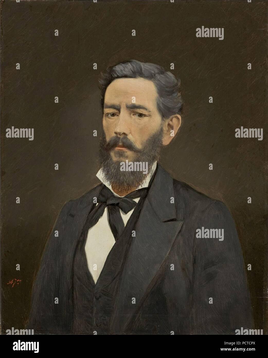 Almeida Júnior - Busto Masculino. Imagen De Stock