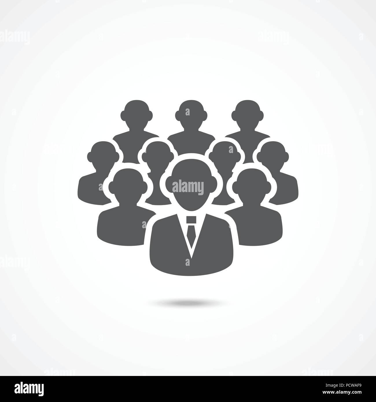 Seguidores icono en blanco Imagen De Stock