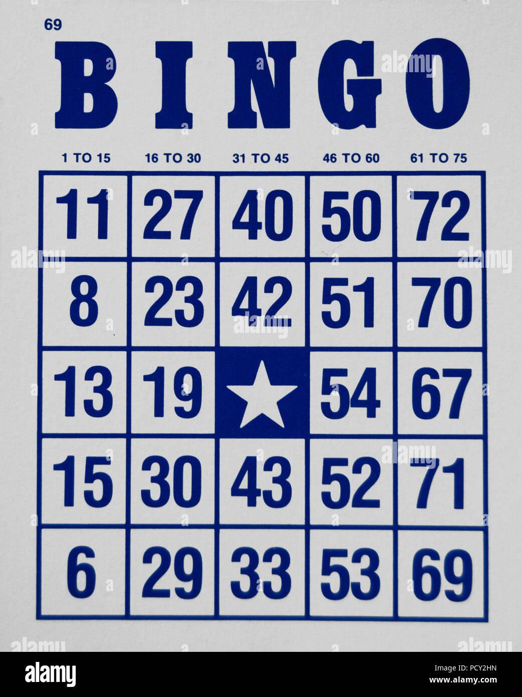 Cartones de bingo para marcar  color azul