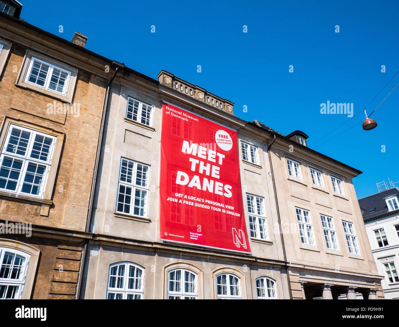 Satisfacer los daneses, el Museo Nacional de Dinamarca, Copenhague, Zelanda, Dinamarca, Europa. Foto de stock
