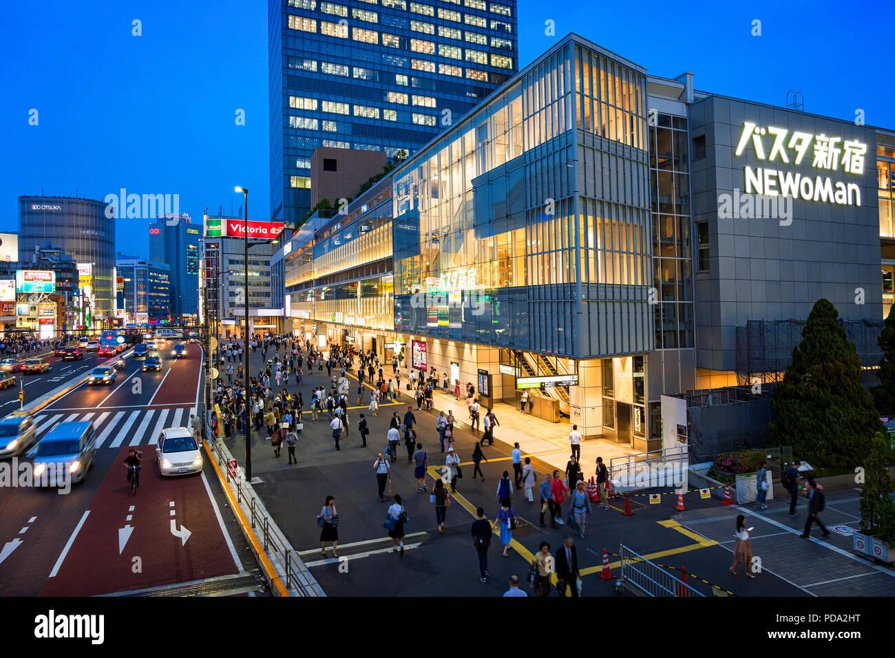 La isla de Japón, Honshu, Kanto, Tokio, el distrito Shinjuku. Imagen De Stock