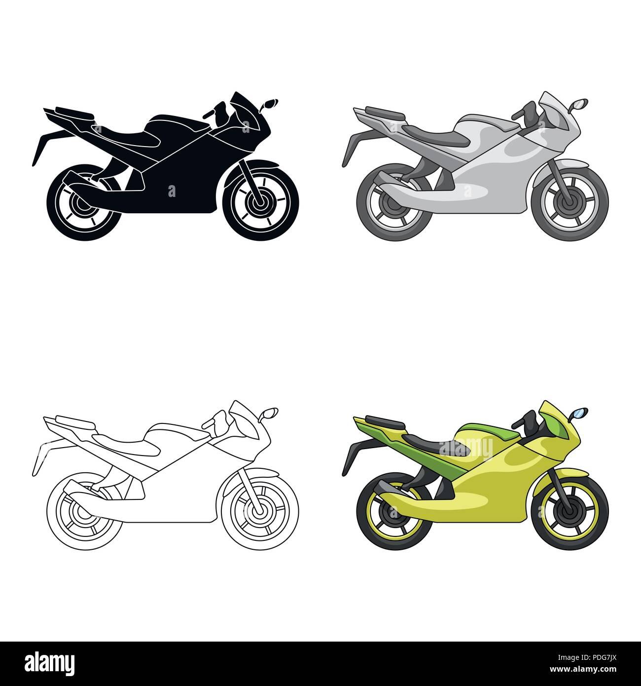Carreras De Motosdeporte Extremo único Icono En El Estilo De
