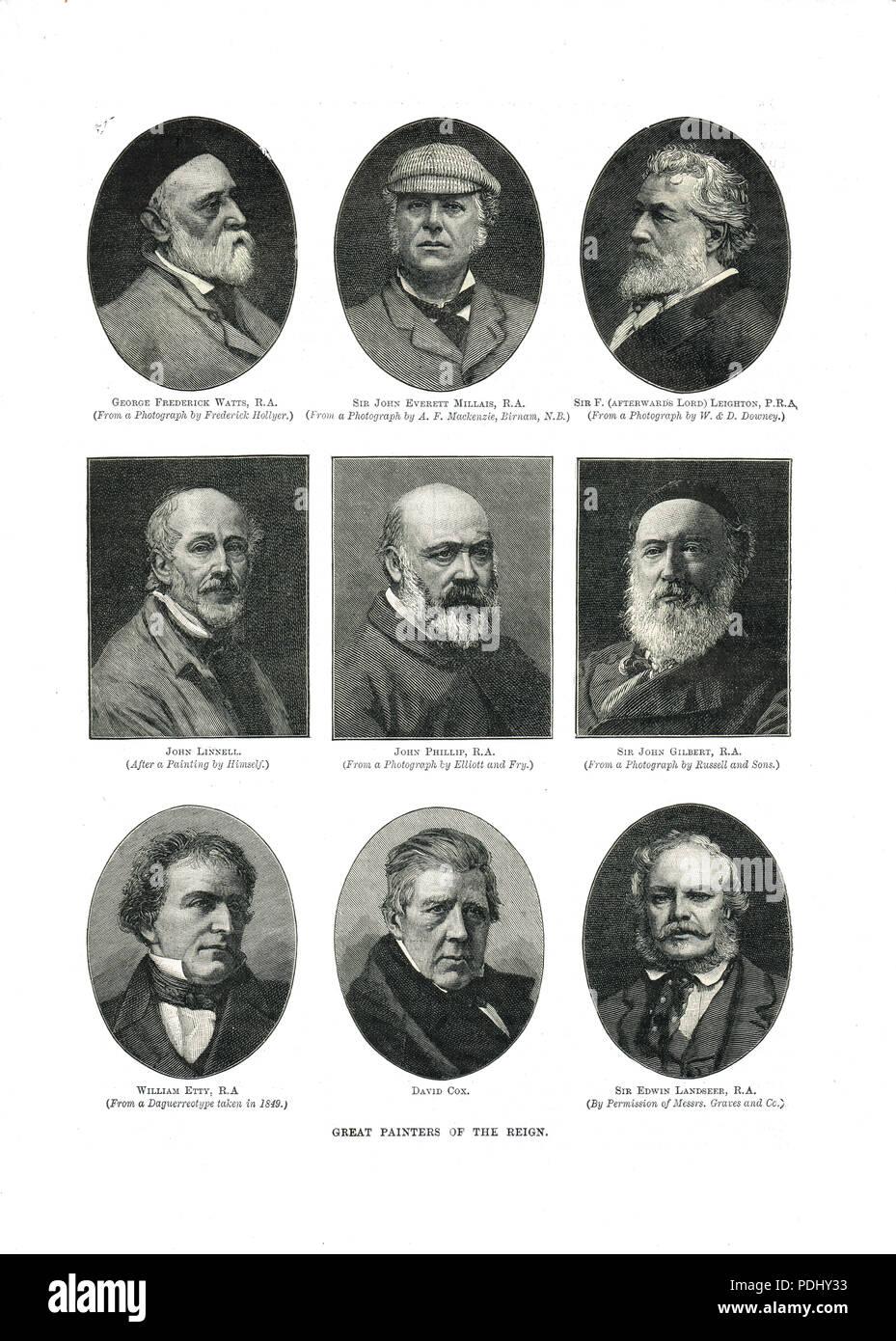 Grandes pintores del siglo XIX Imagen De Stock