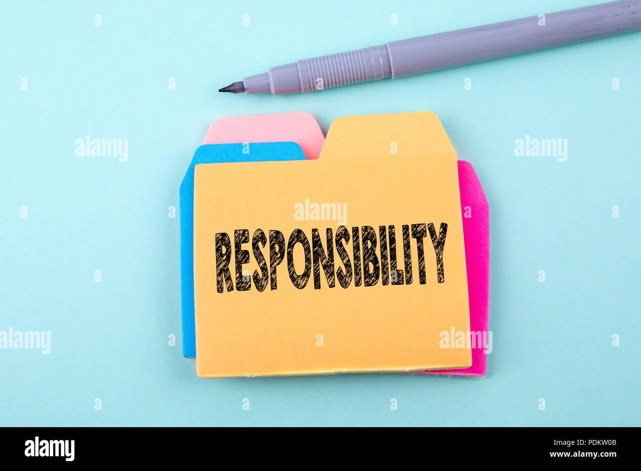 La responsabilidad, el concepto empresarial Imagen De Stock